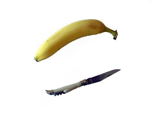 Etape 1 : prendre un couteau et une banane